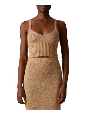 Altuzarra janice sequin knit crop top