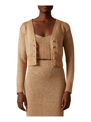 Altuzarra latania sequin knit cropped sweater