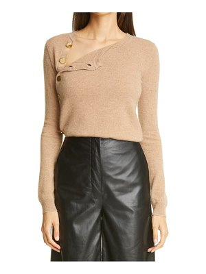 Altuzarra minamoto side button cashmere sweater