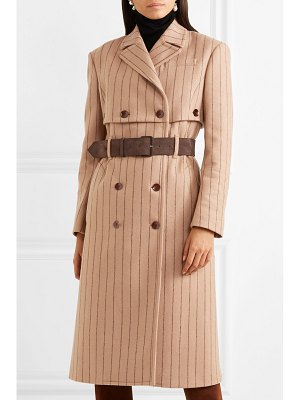Altuzarra pinstriped wool and cashmere-blend coat