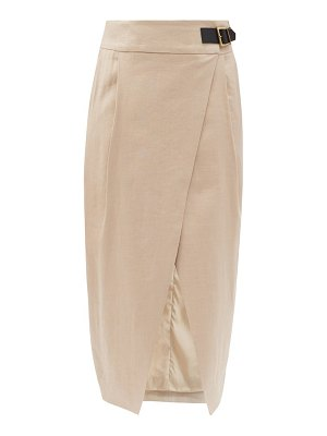 Altuzarra rosie tulip-hem pleated-twill wrap skirt