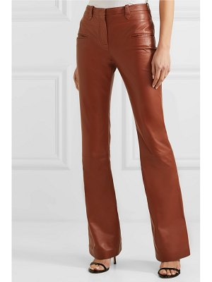 Altuzarra serge leather flared pants