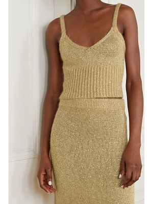 Altuzarra toria cropped sequin-embellished knitted tank