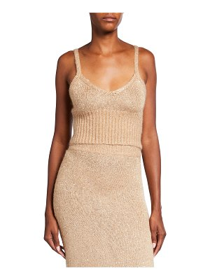 Altuzarra Toria Sequined Knit Crop Top