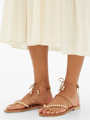 ALVARO akaiah beaded wraparound leather sandals