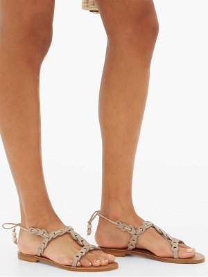 ALVARO akiona ankle-tie leather sandals