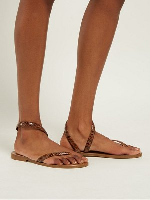 ALVARO aruba snakeskin and leather sandals
