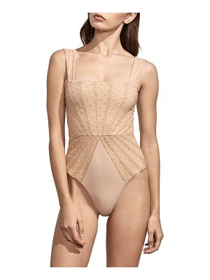 Amaio Swim Avril Pleated-Mesh Maillot