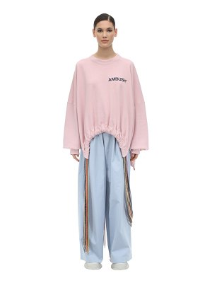 AMBUSH Oversize printed cotton sweatshirt