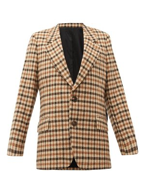 AMI single breasted checked wool blazer