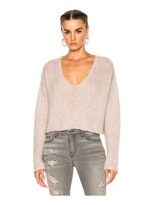 AMIRI Cropped V Neck Sweater