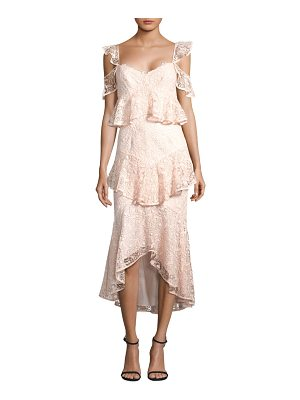 AMUR hayden lace midi dress