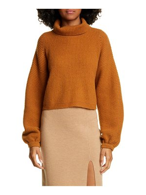 AMUR jaco mock neck crop wool sweater