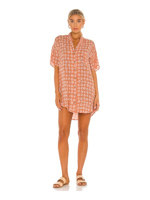 AMUSE SOCIETY fortune teller short sleeve button up dress