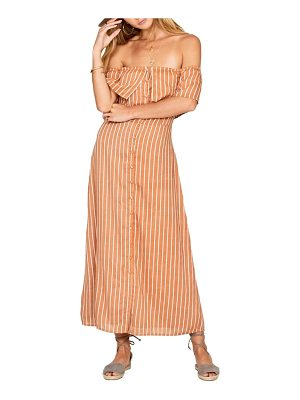AMUSE SOCIETY roundabout off the shoulder dress