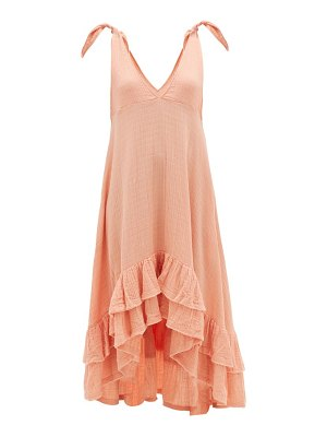 Anaak anneka tie-shoulder ruffle-hem cotton dress