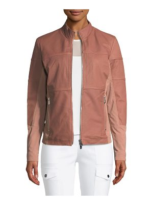 Anatomie Erin Perforated Leather Jacket