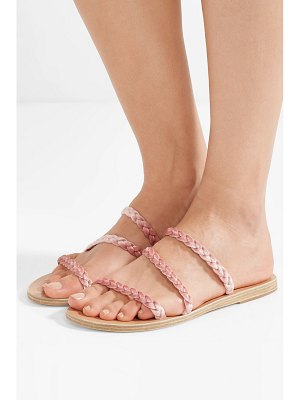 Ancient Greek Sandals alkimini braided velvet sandals