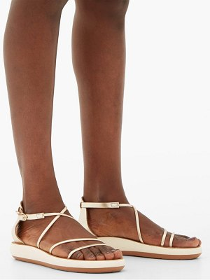 Ancient Greek Sandals anastasia metallic leather sandals