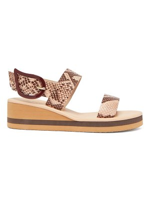 Ancient Greek Sandals clio rainbow python-embossed leather wedges