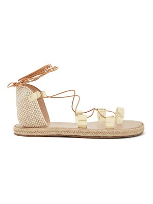 Ancient Greek Sandals esmeralda woven-canvas sandals