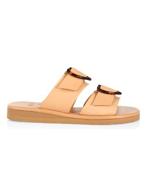 Ancient Greek Sandals iaso hearts leather wedge sandals