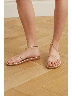 Ancient Greek Sandals kansiz metallic leather sandals