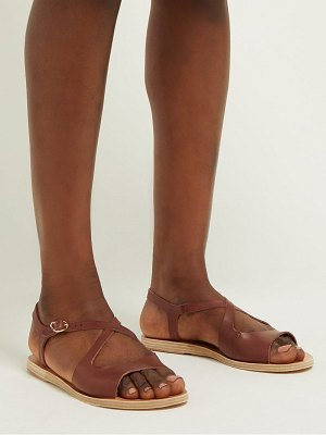 Ancient Greek Sandals limnos crossover leather sandals