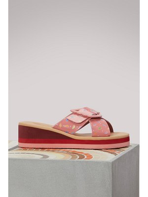 Ancient Greek Sandals Rainbow wedge sandals