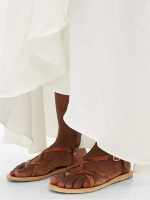 Ancient Greek Sandals semele buckled python-effect leather sandals