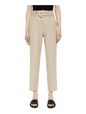 Anine Bing elyse belted linen & cotton trousers
