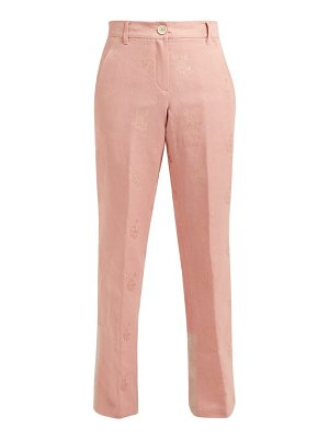 Ann Demeulemeester alexa cotton-blend brocade trousers