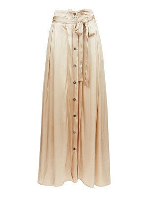 Ann Demeulemeester belted silk-blend satin maxi skirt
