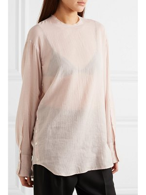 Ann Demeulemeester oversized cotton and cashmere-blend blouse