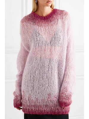 Ann Demeulemeester oversized dégradé mohair-blend sweater