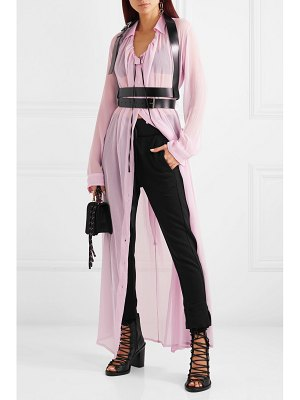 Ann Demeulemeester ruched silk-crepon maxi dress