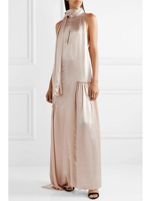 Ann Demeulemeester ruched silk-satin gown