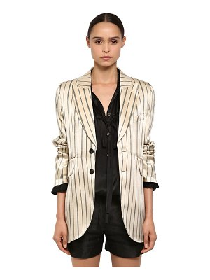 Ann Demeulemeester Striped cotton viscose satin blazer