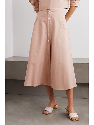 Anna Mason liv cotton-twill midi skirt