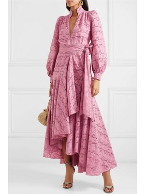 Anna Mason stella broderie anglaise cotton wrap maxi dress