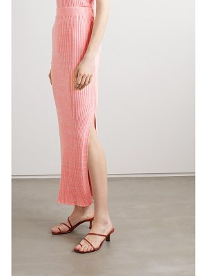 ANNA QUAN ruby ribbed mélange cotton midi skirt