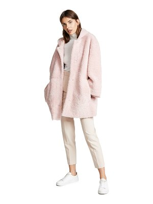 ANNE VEST zineb shearling hooded coat