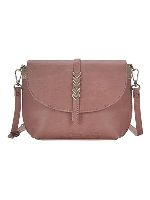 ANTIK KRAFT arrow faux leather crossbody bag