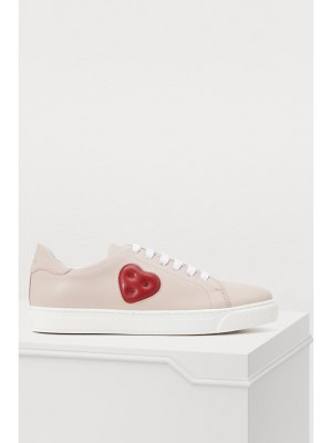 Anya Hindmarch Chubby Heart leather sneakers
