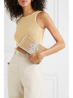 Anya Hindmarch neeson woven leather and straw clutch