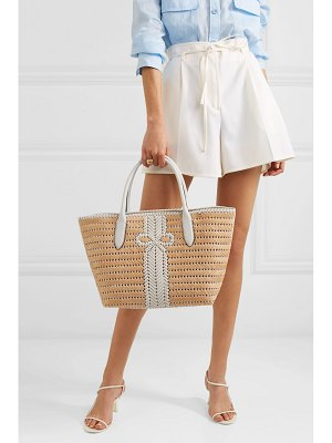 Anya Hindmarch nesson woven leather and straw tote