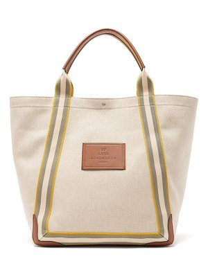 Anya Hindmarch pont leather-trimmed canvas tote bag