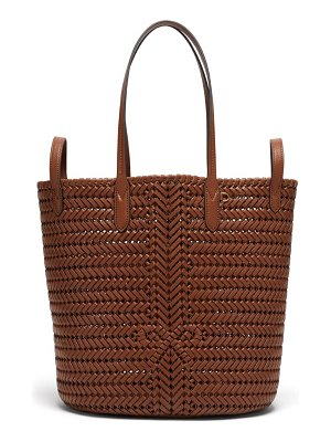 Anya Hindmarch the neeson small two-way woven-leather tote bag