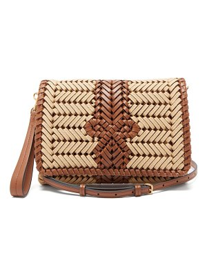 Anya Hindmarch the neeson woven leather-trimmed cross-body bag