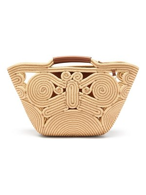 Anya Hindmarch trivet small braided-rope and leather tote